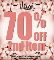 NEW SALE – 70% OFF 2nd item!! *Receive 50% OFF your 1st item and 70% OFF your 2nd lower priced item. Some exceptions apply. See in store for details. #sale #jewlery #youdeserveit