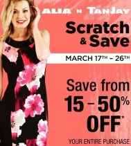 #scratchandsave at Alia n Tanjay! On until Mar.26 #saving #shop #yqr