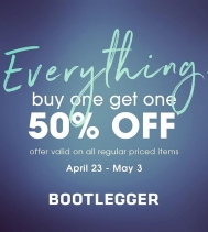 #everything! BOGO 50% OFF 😍 Offer valid on all regular priced items! Now until May.3 @northgate_bootiecrew @bootleggerjeans #sale #bogo #spring #shop #yqr #hotdeals