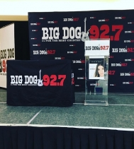 All set up and ready for @bigdog927regina to present @jessmoskaluke with her Saskatchewan Country Music Association Awards! The 🎉celebrations 🎉 start at 1PM tomorrow, in Centre Court!