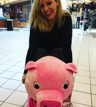 Everyone loves to ride @stuffy_riders_regina even this beauty! Thanks for the visit @heatherprosak, come and race with us again! #yqr #northgatemall #goodtimes #cupcake #pink #prettylady