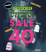 👻 Booooooya! Halloween Weekend Sale @ardene! Save up to 40%OFF - Some restrictions apply on select styles • See in-store for all details...
