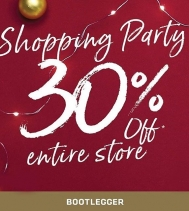 Don't miss out on the Shopping Party @bootleggerjeans @northgate_bootiecrew Nov.9 - Nov.12! Receive 30%OFF ENTIRE STORE! 🎉🎈👖