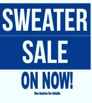 Cozy & Warm is a must these day! Check out their Sweater Sale at Suzanne's • Sale ends Nov.18