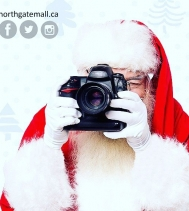 BIG NEWS!! 🗞 Santa and his reindeer can't wait to see all the wonderful kids this year! Stop by for a visit next Friday to give him your wishlist! 📜 Visits start at 11am Nov.24! Visit northgatemall.ca for times and pricing. #christmas #santa #naught