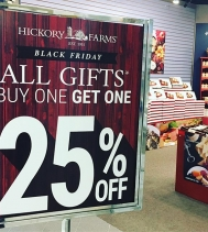 Great gift ideas @hickoryfarms @northgateyqr! All gift baskets are BOGO at 25% Off! Black Friday Only!! 🖤🖤🖤