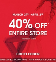 Perfect time to update your wardrobe! 😉 Starts Mar.29 @bootleggerjeans @northgate_bootiecrew