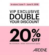 VIP Exclusive 20% off  @ardene