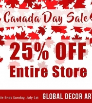 🇨🇦 25% OFF Entire Store! 🇨🇦 Visit Global Decor Art in Northgate Mall.  #happycanadaday #sales