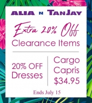 Great savings at Alia N Tan Jay! 👗Too many to lists! 🗒 ✏ On Now Until July 15 at Northgate Mall.