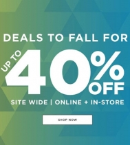 THE DEALS TO FALL FOR SALE WITH UP TO 40% OFF STOREWIDE ON ALL NEW FALL ARRIVALS. Select styles. Some restrictions may apply. Visit Bluenotes in the Northgate Mall!