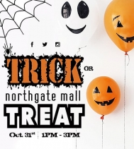 Calling monsters, princesses, and all scary and magical creatures in between 👸🧛♀️🧚♂️🧙♂️🧟♀️ to the Northgate Mall. Trick or Treat the mall between 1PM - 3PM. 🎃👻 Stores participating will have balloons 🎈�