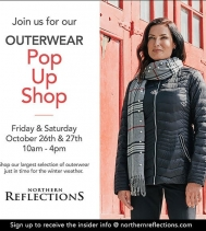 Visit Northern Reflection in Northgate Mall Friday & Saturday, October 26th & 27th from 10am-4pm for the Outerwear Pop Up Shop of the seasons!  Shop their largest selections of outerwear and walk away with your next favourite winter essential. #outerwear