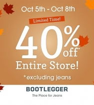Join Bootlegger all Thanksgiving Weekend where their Entire Store is 40% Off!! 🎉 @northgate_bootiecrew #longweekendsale #bootlegger