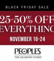 Peoples Jewellers Black Friday features a wide range of necklaces, rings, bracelets and earrings, perfect for both men and women. Some restrictions apply, visit in-store for details. #blackfriday