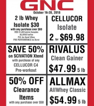 Visit GNC today and Check out their Great Deals!! @gncnorthgate.yqr  #deals #fitness #protein #yqr