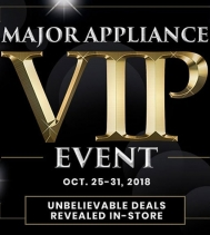 Shop Lowe's wide selection of Major Appliances VIP Event! Limited Time, Sale Ends Oct. 31st Exclusions apply. See in-store for details. #lowes #majorappliances #vip