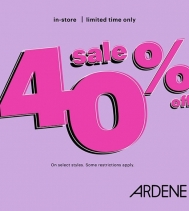Limited Time Only 40% OFF at Ardene! Sale starts Friday, October 26th, some restrictions apply, see in-store for details. #ardenelove