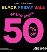🖤 Black Friday Sale at Ardene! Entire store at 50% Off!! Some restrictions apply.  Nov 21 to Nov 27 #ardenelove