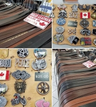 Hand-crafted Leather Belts, Buckles, and Leather Gloves!🧤 Visit Queen City Belts & Buckles located in Centre Court by Santa! 🎅🎄🎁 #christmasshopping #leatherbelts #belts #gifts #handcrafted
