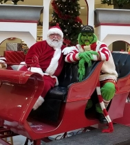 Only 2 DAYS left to visit Santa! 🎅 Even this green one stopped by for a visit! And TODAY ONLY stop by Handmade Saskatchewan Christmas Market to have a Visit with the green one!! Located right across from EB games! 💚 #santaphotos #handmadesaskatchewa