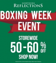 The wait is over! Boxing week event is on now at Northern Reflections! With deals up to 60% off, find the perfect outfit to ring in the New Year or stock up on your winter essentials.