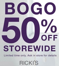 New Arrivals. Sale Styles. It's ALL IN. Buy One Get One 50% Off STOREWIDE is on now for a limited time! Some exclusions apply. Ask in store for details.