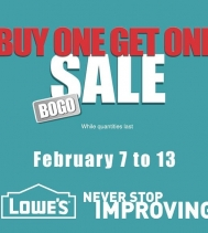 Shop Lowe's Buy One, Get One Sale While Quantities Last. See in-store for details.