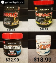 Check out the AMAZING HOT BUY Prices on these select ALLMAX until March 27th.😍💪🔥 Visit GNC in Northgate Mall Today!  @gncnorthgate.yqr #deals #sale