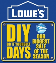 DIY DAYS: Shop Lowe's Biggest Sale of the Season!! Offer valid through to March 13, 2019.  #DIY #Sales