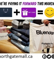 No Winter Blues for this Bluenotes Shopper! ➡️ We Paid It Forward this afternoon!! 😀🛍💙 #PayingItFoward #yqr #shopping #giveaways #bluenotes