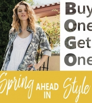 Spring into Style with Suzanne's - BUY ONE, GET ONE 50% OFF!! #SuzannesStyle