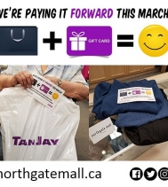 We Paid It Forward ➡️ to another very Surprised Shopper!! 😀🛍👖Plus she was Thrilled to get 25% Off with Alia N TanJay Scratch & Save Promo!! 🎉🛍 #PayingItForward #giveaways #shopping #yqr #scratchandsave