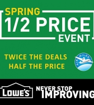 Shop Lowe's Spring 1/2 Price Event! 🌱🛠 Twice the deals. Half the price.  #sales #lowes