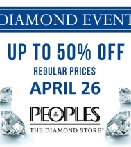 Create the jewellery of your dreams.💍 Choose the perfect setting hand select your Diamond.💎 Save up to 50% Off Regular Prices. Schedule your appointment at Peoples in Northgate Mall. See Jewellery Consultant for all Details. #diamondevent #jewellery