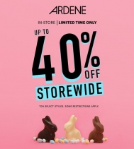 Get up to 40% Off Storewide at Ardene!! 🎉🛍 Limited Time Only! Some restrictions apply, see in store for details. #sales #shopping #easterweekend