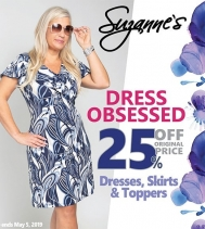 Find the perfect dress for work and play. Shop Suzanne's Dress Obsessed Sale - 25% off Dresses, Skirts and Toppers! 🛍👗 #dresses #sales #skirts #shopping