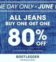 TODAY ONLY @northgate_bootiecrew 👖👖👖See in-store for details! Ends at midnight 🌔