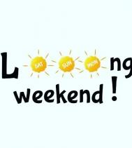 Happy L☀️ng weekend!! Jul. 1 | Noon - 5PM
