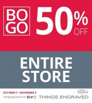 Buy a Gift, Get a 2nd Gift 50% Off @thingsengraved