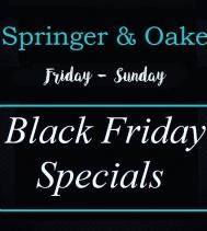 Black Friday Specials at @springernoake 🖤  Ends Dec.1