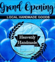 🎈Grand Opening🎈 This Saturday stop by @heavenlyhandmadeca and Enter to Win a Gift Basket FULL of goodies from the Amazing vendors VALUED at $400!!! Every purchase gets you into the draw PLUS The first 25 purchases will receive a FREE Gift.
