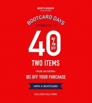 Bootcard Days! Receive 40% off two regular priced items! Oct.26-27 @northgate_bootiecrew @bootleggerjeans #bootleggerjeans 👖👖
