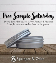💙Love Saturdays and Love FREE samples!  Saturday Feb 1st, visit @springernoake to receive a free sample of our all natural Bath Salts. Treat yourself to a relaxing bath this weekend...on us!
