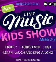 FUN for EVERYONE! 🎉 Join Chat Productions 🎶Live Musical Family Entertainment🎶! Show starts at 11AM | Centre Court  Limited seating is available | 30 Minute Show  Learn, Laugh And Sing-a-Long with us! #yqrfamilyfun #free #musicalevent #puppetshow