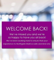You've been missed! ☺️ Visit northgatemall.ca for our  mall re-opening details! 🛍  See you Tuesday Stay Safe and Be Kind